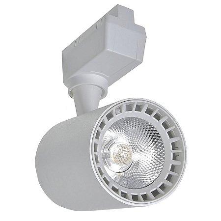 Spot LED 10W Branco Frio para Trilho Eletrificado Branco