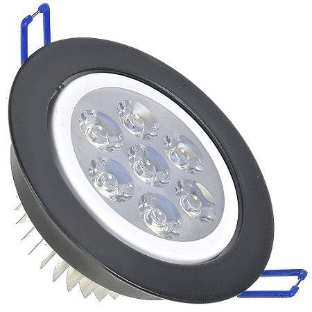 Spot Dicróica 7w LED Direcionável Corpo Preto e Branco Bicolor