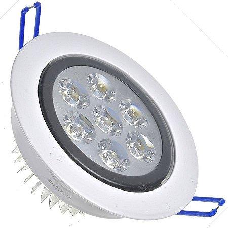 Spot Dicróica 7w LED Direcionável Corpo Branco e Preto Bicolor