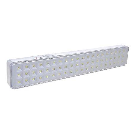 Luminária de Emergência 60 LEDs   Slim