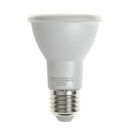 Lâmpada LED Par20 7W E27 Bivolt Azul  Inmetro