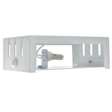 Luminária Arandela Frisada LED 3W Branco Quente Branca