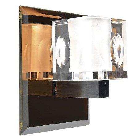 Luminária Arandela LED 20W Cristal Branco Quente