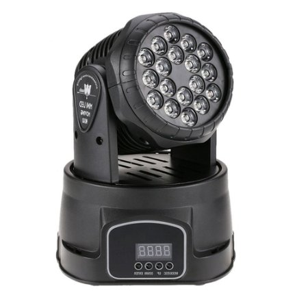 Mini Refletor Holofote LED Moving Head RGB 18 LEDS para Festa