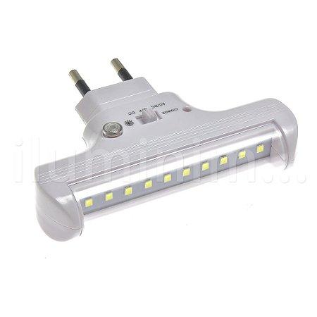 Luminária de Emergência 60 Lúmens com Fotocélula