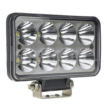 Farol de Milha LED Retangular 24W IP68 Automotivo