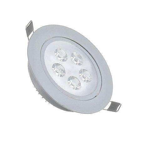 Spot LED 5W Dicróica Direcionável Corpo Cinza