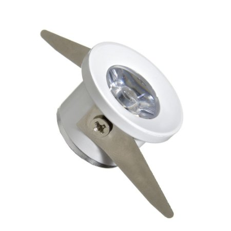 Mini Spot LED COB 1W Redondo Embutir Branco Frio