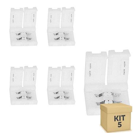 Kit 5 Emenda rápida para fita LED 5050 1 cor - 10mm