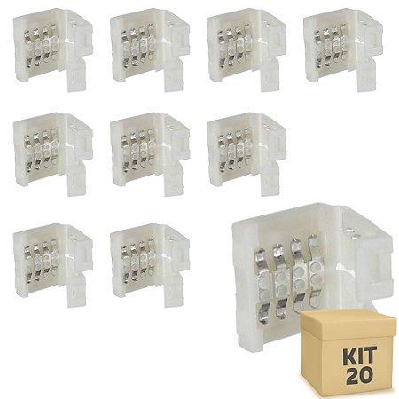 Kit 20 Emenda rápida para fita LED 3528 RGB - 10mm