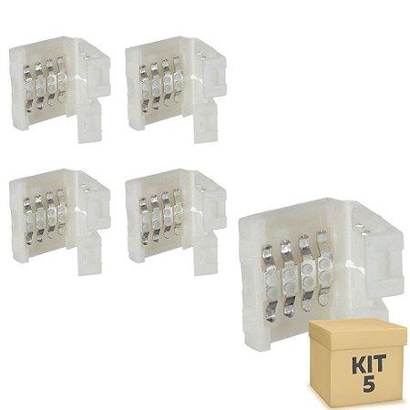 Kit 5 Emenda rápida para fita LED 5050 RGB - 10mm
