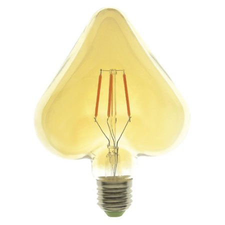 Lâmpada LED Coração Vintage 4w Branco Quente