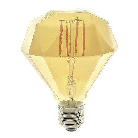 Lâmpada LED Diamante Vintage 4w G95 Branco Quente