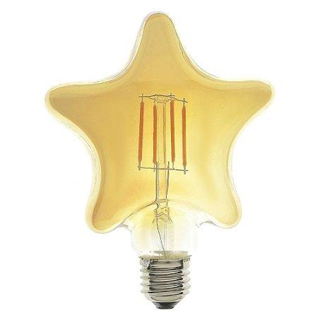 Lâmpada LED Estrela Vintage 4w Branco Quente