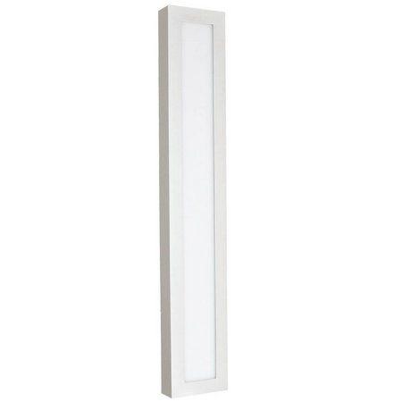 Luminária Plafon 10x60 18w LED Sobrepor Branco Quente Borda Branca