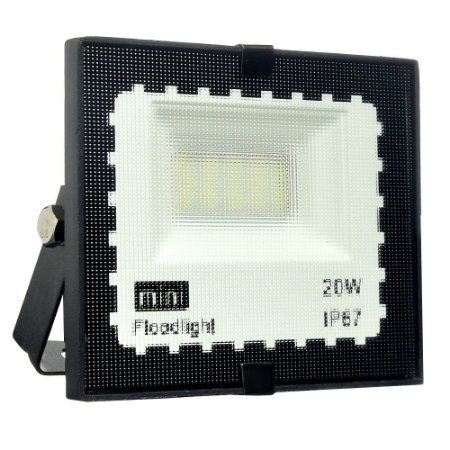 Mini Refletor Holofote LED SMD 20W Branco Frio IP67