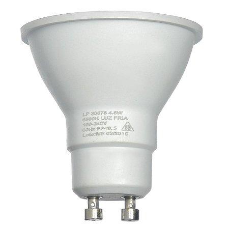 Lâmpada LED Dicroica MR16 4,8w Branco Frio | Inmetro