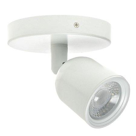 Spot LED 7W Sobrepor Branco Frio Branco