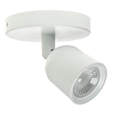 Spot LED 7W Sobrepor Branco Quente Branco