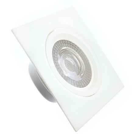 Spot LED SMD 9W Quadrado Branco Quente