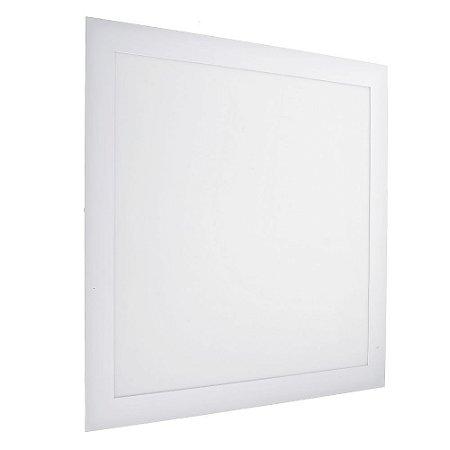 Luminária Plafon 40x40 42w LED Embutir Branco Morno