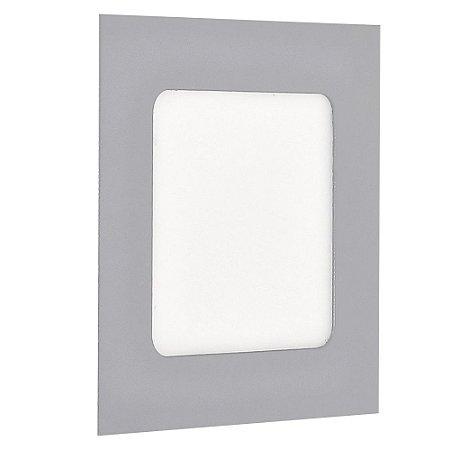 Luminária Plafon LED 12w Embutir Branco Frio Cinza