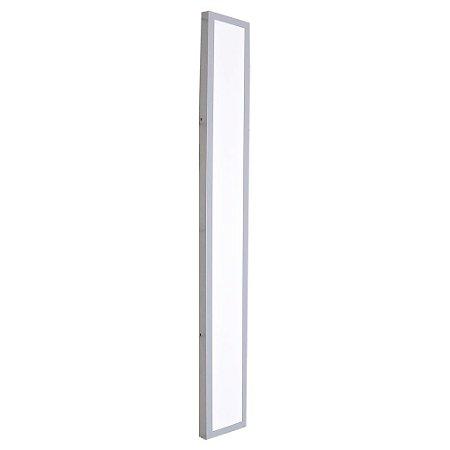 Luminária Plafon 15x120 LED 30w Sobrepor Branco Frio Cinza