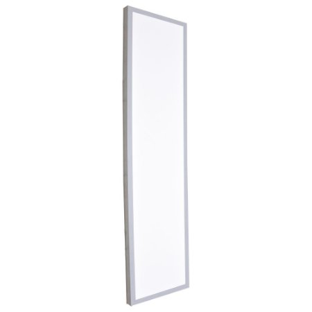Luminária Plafon 30x120 LED 48w Sobrepor Branco Frio Cinza