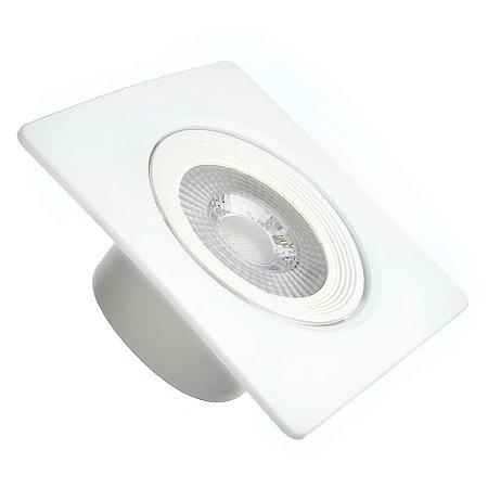 Spot LED 5W SMD Embutir Quadrado Branco Neutro Base Branca