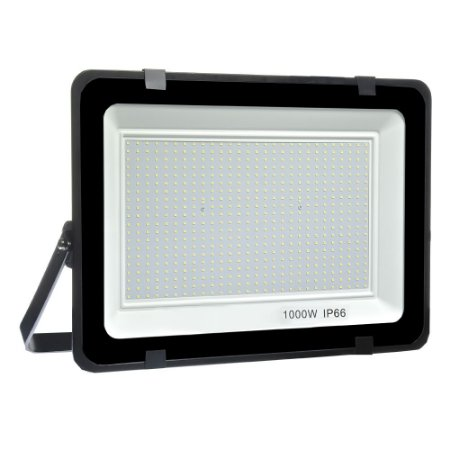 Refletor Micro LED Ultra Thin 1000W Branco Frio Black Type