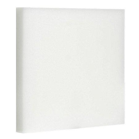 Luminária Plafon 22x22 LED 32W Embutir Branco Frio Borda Infinita