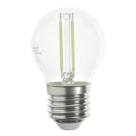 Lâmpada LED Bolinha Filamento E27 2w Verde | Inmetro