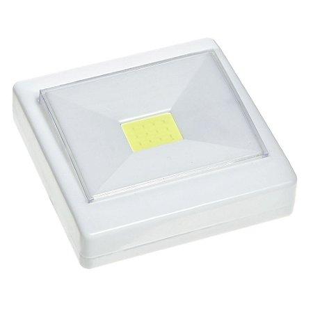 Luminária Spot LED 3W Touch Quadrada Branca para Móveis
