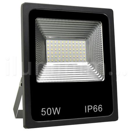 Refletor Holofote MicroLED Slim 50W Branco Frio - Pré-venda