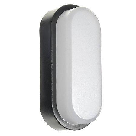 Luminária Arandela LED 12W Tartaruga Sobrepor Branco Quente Preto
