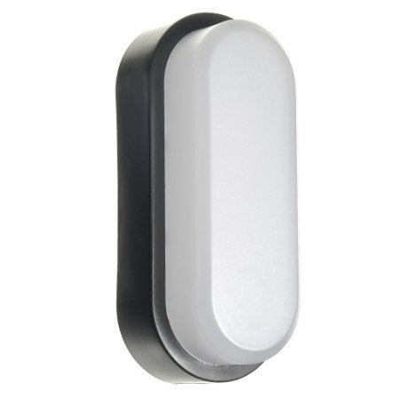 Luminária Arandela LED 5W Sobrepor Tartaruga Branco Quente Preto