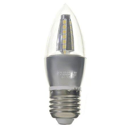 Lâmpada LED Vela Cristal E27 4W Bivolt Branco Frio   Inmetro