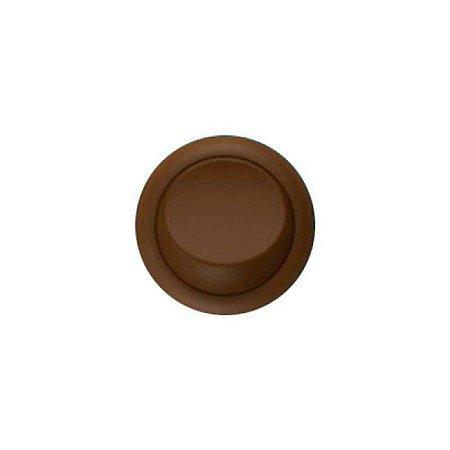 Interruptor Simples Bolinha de Embutir Cor Marrom