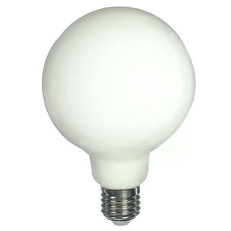 Lâmpada LED G95 4W Leitosa Branco Frio Filamento | Inmetro