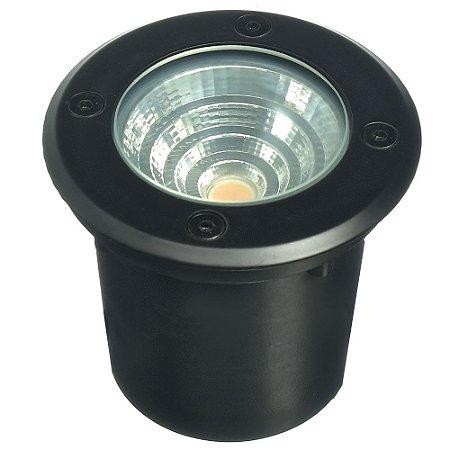 Balizador LED 6W Embutir Quadrado Branco Quente