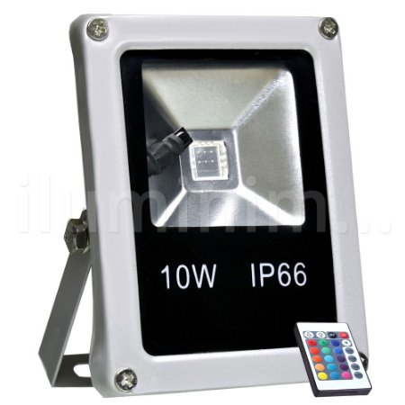 Refletor Holofote LED 10w RGB Colorido c/ Controle