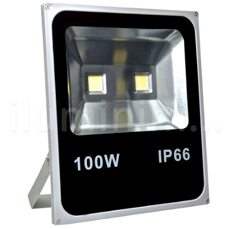 Refletor Holofote LED 100w Branco Quente