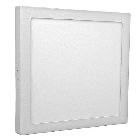 Luminária Plafon 25w LED Sobrepor Branco Quente