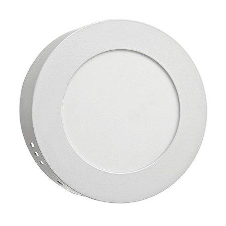 Luminária Plafon 6w LED Sobrepor Branco Quente