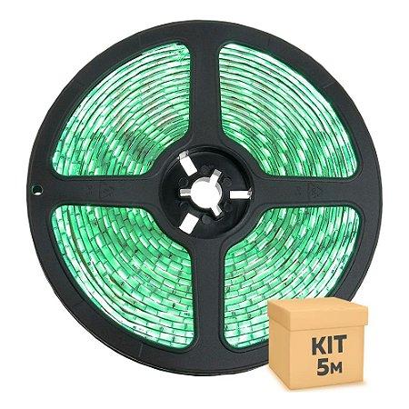 Fita LED Verde 5050 5 metros com Fonte