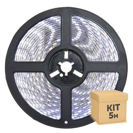 Fita LED Branco Frio 5050 5 metros com Fonte