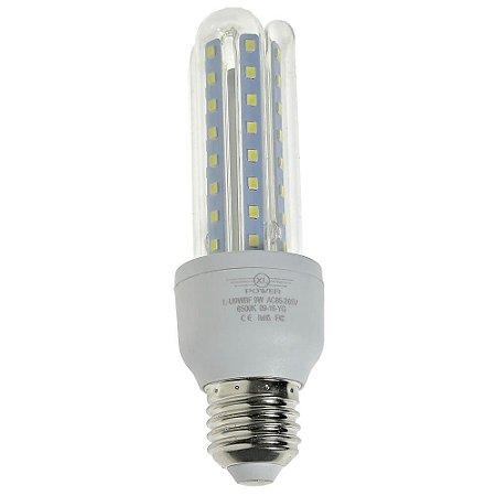 Lâmpada LED Milho 3U E27 9W Branco Frio | Inmetro
