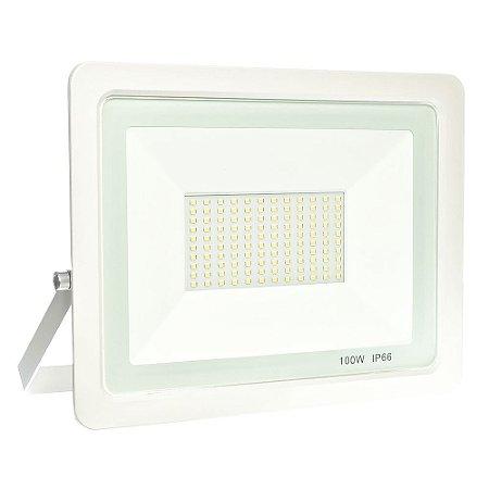 Refletor MicroLED Ultra Thin 100W Branco Quente White Type