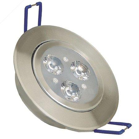 Spot Dicróica 3w LED Direcionável Corpo Aluminio