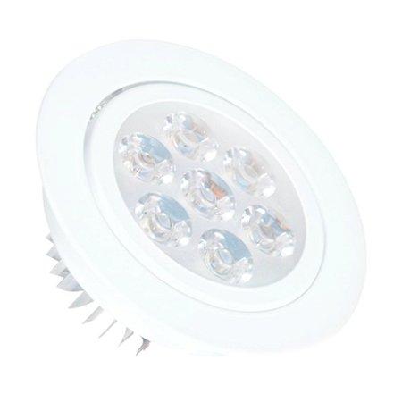 Spot Dicróica 7w LED Direcionável Corpo Branco
